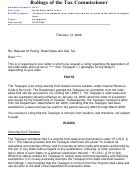 Form 06-22 - Rulings Of The Tax Commissioner