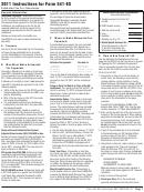 California Form 541-es - Estimated Tax For Fiduciaries - 2011