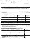 California Form 3725 - Assets Transferred From Parent Corporation To Insurance Company Subsidiary - 2011