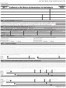 Form 8453 - California E-file Return Authorization For Individuals - 2011