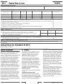 California Schedule D (form 541) - Capital Gain Or Loss - 2011