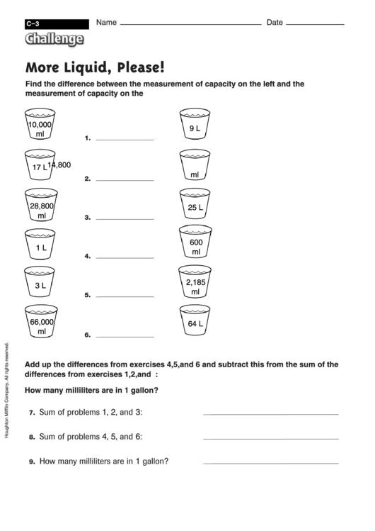 top 276 measurement worksheet templates free to download in pdf format. Black Bedroom Furniture Sets. Home Design Ideas