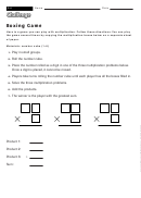 Boxing Game - Math Game-worksheet