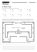 A-maze-ing - Multiplication Worksheet With Answers