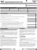 California Form 3503 - Natural Heritage Preservation Credit - 2012