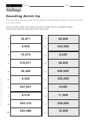 Rounding Match-up - Rounding Worksheet With Answers