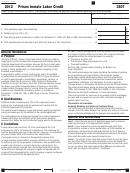 California Form 3507 - Prison Inmate Labor Credit - 2012