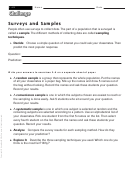 Surveys And Samples - Math Worksheet
