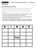 Multiplication Bingo - Multiplication Worksheet With Answers