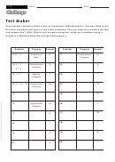 Test Maker - Multiplication Worksheet