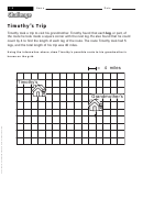 Timothy's Trip - Math Worksheet With Answers