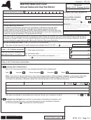 Form St-101 - New York State And Local Annual Sales And Use Tax Return - 2015