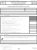 Form Ct-10w - Wholesale Cigarette Dealers Vt Floor Stock Tax Return - 2011