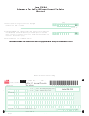 Form Fp-129a - Extension Of Time To File Dc Personal Property Tax Return Worksheet - 2013
