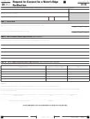 Form 1115 - Request For Consent For A Water's-edge Re-election
