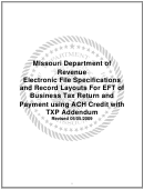 Form Mo 860-2690 - Electronic Filing Trading Partner Agreement (tpa)