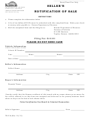 Form Tr-216 - Seller's Notification Of Sale