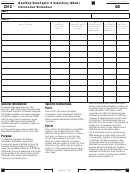 California Schedule Qs - Qualified Subchapter S Subsidiary (qsub) Information Worksheet - 2012