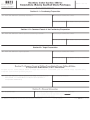 Form 8023 - Elections Under Section 338 For Corporations Making Qualified Stock Purchases