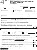 Form Ct-4 - General Business Corporation Franchise Tax Return Short Form - 2013