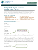 Computer & Digital Forensics Sample Cover Letters