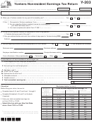 Form Y-203 - Yonkers Nonresident Earnings Tax Return - 2015