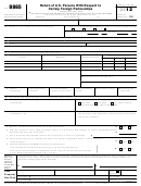 Form 8865 - Return Of U.s. Persons With Respect To Certain Foreign Partnerships - 2012