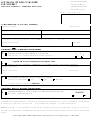Form Sfn 2886 - Application For Mobility-impaired Parking Permit