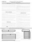 Form 801 - Virginia Surplus Lines Brokers Quarterly Tax Report