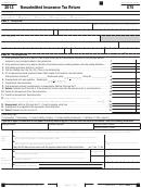 California Form 570 - Nonadmitted Insurance Tax Return - 2013