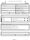 Form 6750 - Alaska Application For Voluntary Disclosure - 2013