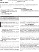 Form 760es - Virginia Estimated Income Tax Payment Voucher For Individuals - 2014