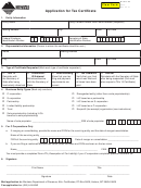 Form Cr-t - Application For Tax Certificate