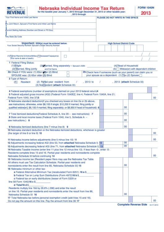 individual tax return instructions 2013 pdf