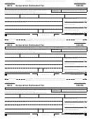 California Form 100-es - Corporation Estimated Tax - 2013