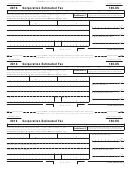 California Form 100-es - Corporation Estimated Tax - 2012