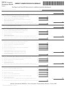 Virginia Schedule 500cr - Credit Computation Schedule - 2014