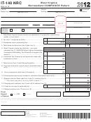 Form It-140 Nrc- West Virginia Nonresident Composite Return - 2012