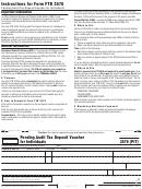 California Form Ftb 3576 - Pending Audit Tax Deposit Voucher For Individuals