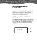 Accessible Algorithms For Multiplication - Multiplication Worksheet