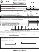 Form Sc-40 - Unified Tax Credit For The Elderly - 2012