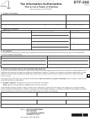 Form Dtf-280 - Tax Information Authorization