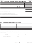 California Form 1115 - Request For Consent For A Water's-edge Re-election