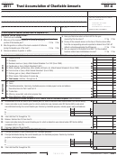California Form 541-a - Trust Accumulation Of Charitable Amounts - 2011
