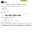 Montana Form Bl-app - Application To Add Beer To Off-premises Wine License