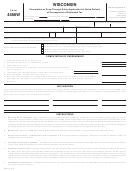 Form 4466w - Wisconsin Corporation Or Pass-through Entity Application For Quick Refund Of Overpayment Of Estimated Tax