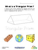 Triangular Prism Shape Worksheet