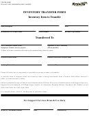 Form 10a120 - Inventory Transfer Form - Kentucky Finance And Administration Cabinet
