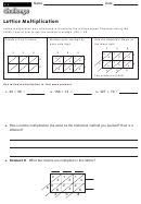 Lattice Multiplication - Multiplication Worksheet With Answers