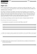 High-low - Math Worksheet With Answers